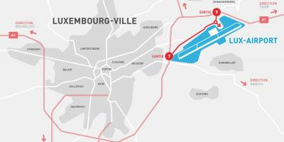 Mapa ng Luxembourg airport